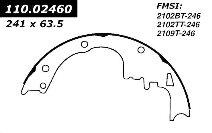 cen111 02460 cen brake shoes-1964   buick  chevrolet  gmc  oldsmobile  pontiac    442